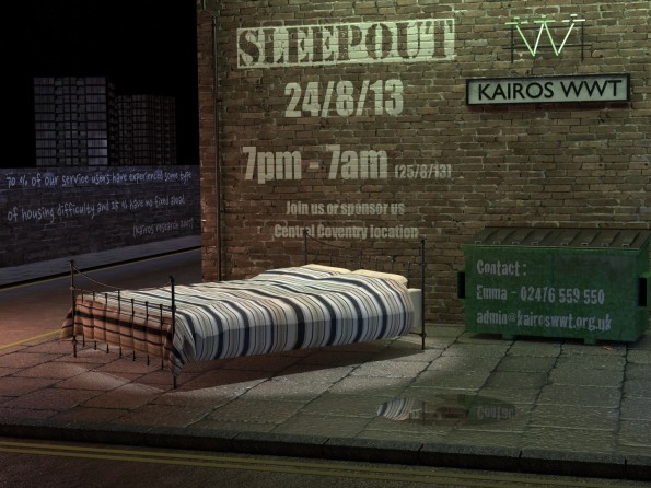 fundraising sleep out, homeless women