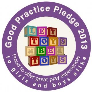 toymark pledge sticker, let toys be toys, no gender