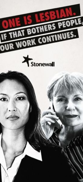 Stonewall's campaign against homophobia in the workplace