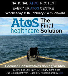 atos national protest 19 february across the UK