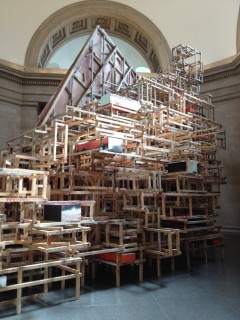 Phyllida Barlow sculpture_Tate Britain_April 2014