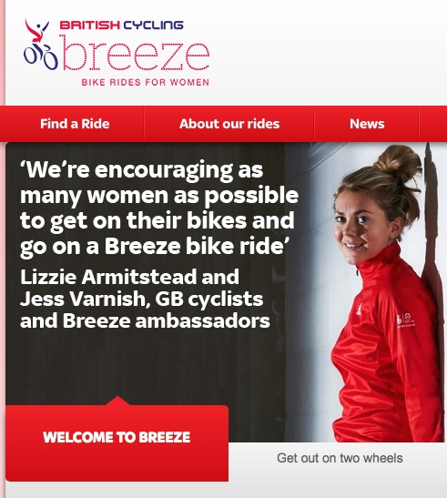 Breeze, the big bicycling programme for women, join us