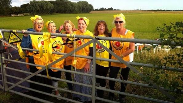 Lancashire Nanas, anti-fracking protest, shale gas operator Cuadrilla