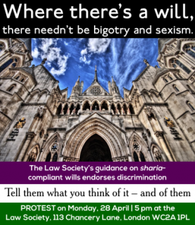 law society, sharia-compliant wills, practice note, protest, withdrawal