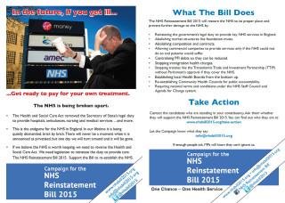 NHS reinstatement Bill 2015, presentation, house of Commons, Caroline Lucas