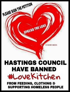 lovekitchen hastings, homelessness, hastings council, petition