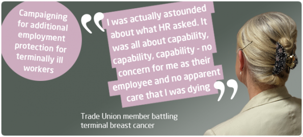 terminally ill, work rights, TUC, MEPs, European Parliament