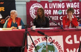 Selma James, Global Women Strike, conference, poverty, carers' pay