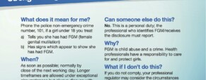 FGM: changes to UK approach