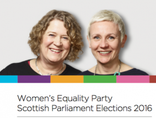 WE, Women's Equality party, Scottish elections, manifesto, 2016