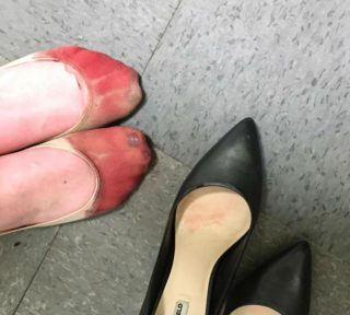 shoes at work, sexism, high heels, footwear