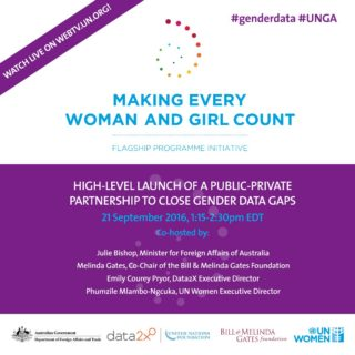 UN Women, #genderdata, making every woman and girl count, initiative, gender data gap