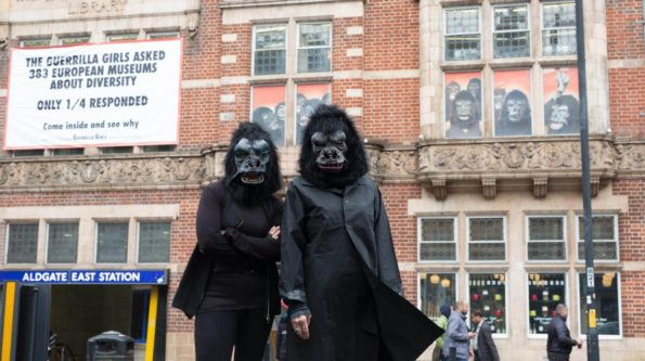 guerrilla girls, Whitechapel Gallery, diversity, art galleries