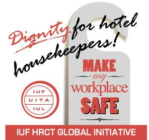 dignity for hotel housekeepers, make my workplace safe, union week of action