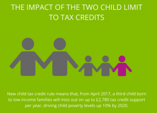 Policy in Practise, the impact of the two child limit to tax credits, child poverty in the UK