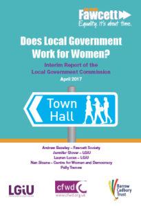 Fawcett Society interim report, survey of councillors, sexism, harassment