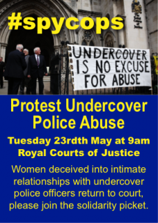 undercover police abuse, South Wales Case, Marco Jacobs, Royal Courts of Justice, hearing, 23 May