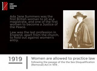 Women in Law, Timeline, project, 100 years, 2019