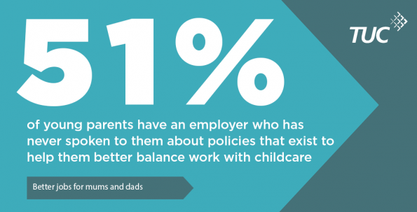 TUC, report, mums and dads at work, their rights, work and childcare, zero hour contracts, rights at work