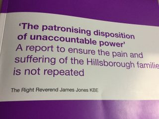 Hillsborough report, Reverend James Jones, bereaved families, state-related deaths, public bodies, INQUEST