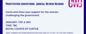 Prostitution: support the judicial review hearing