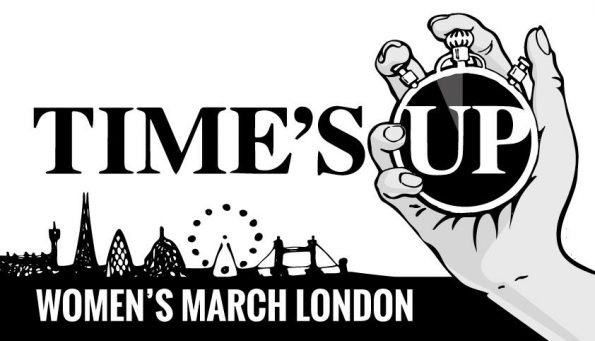 21 January 2018, Time's Up, rally, London, justice and equality, Women's March London