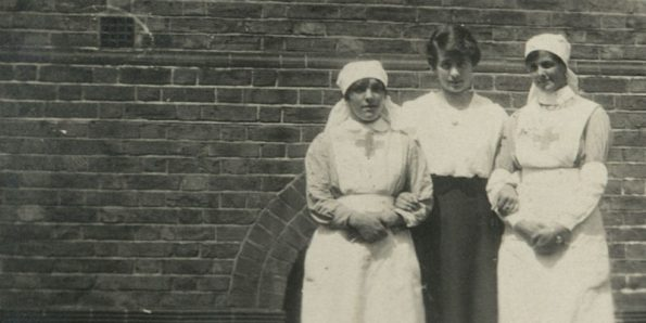 Royal College of Nursing, history project, new website, scrapbooks, diaries, nurses, VAD, World War I,