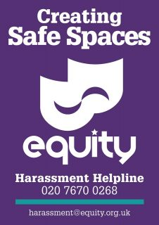 Equity, safe spaces campaign, Royal Court theatre, BFI, bullying, sexual harassment, helpline,