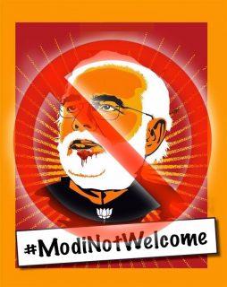 Modi, diaspora Indians, London visit, protest, rapes, violence, #ModiNotWelcome