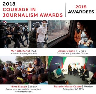 courage in journalism awards, IWMF, new website