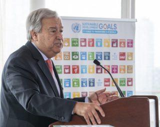 climate change, warning speech, UN Secretary General, António Guterres, 10 September 2018,