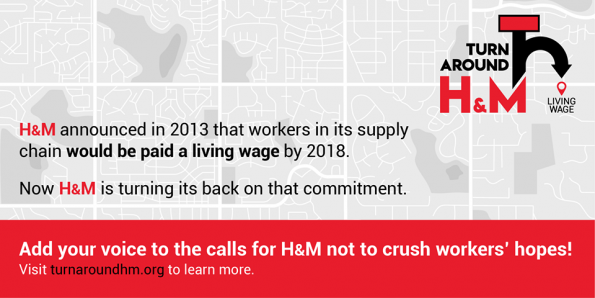 H&M, Clean Clothes Campaign, Behind the Label, poverty, overtime, living wage, scandal