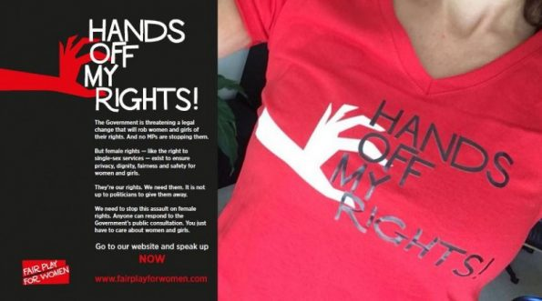 Hands Off My Rights, Fair Play for Women, campaign, Gender Recognition Act, consultation, awareness, sex self-ID,