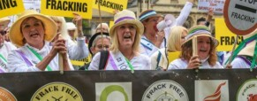 Fracking protest off to Conservative conference