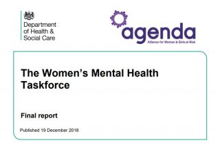 The Women's Mental Health Taskforce, Report, Agenda, Health and Social Care, restraint, male staff, self harm, mothers,