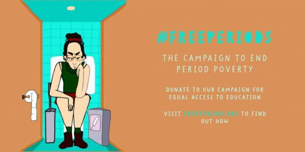 Free Periods, period poverty, Amika George, crowdfunding, legal challenge, Parliament, England, Northern Ireland,