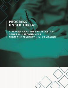 Feminist UN Campaign, a 100-day agenda, six recommendations, report card, second year, Secretary General, progress, women's rights, UN and women