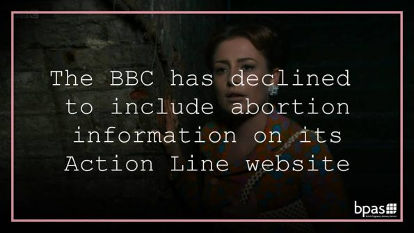 Call the Midwife, backstreet abortion, BBC Action Line, letter, bpas, Royal College of Midwives, Family Planning Association, abortion information, legal abortion, NHS