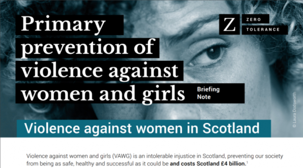 Zero Tolerance, violenca against women, Scotland, 4-page summary, what we can do, end violence against women and girls