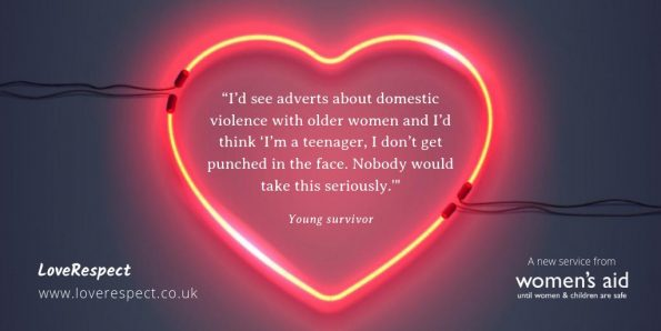 Women's Aid, launch, LoveRespect website, support teenage girls, challenge myths, coercive control,