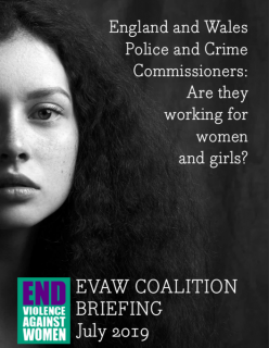 briefing, End Violence Against Women and Girls Coalition, EVAW, Police and Crime Commissioners, working for women and girls. sexual violence, domestic abuse, elections, 2020