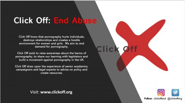Click Off, End Abuse, campaign, pornography in the UK, letter to CPS, Crown Prosecution Service, consider pornography's role, court cases, violence against women and girls