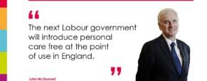 Labour conference: care proposals announced