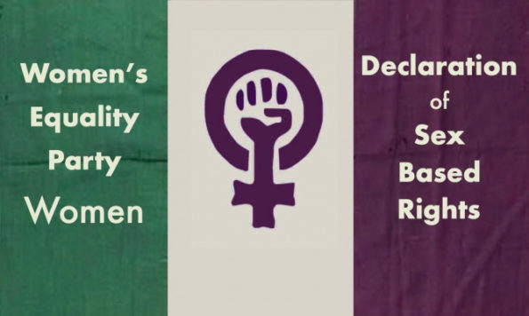 WEP, Women's Equality Party, members declaration, women's sex based rights, gender self identification, women's rights, petition, signatures