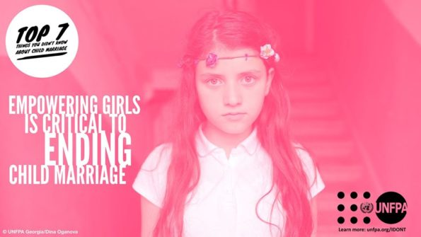 UNFPA, awareness campaign, Valentine's Day, Say IDONT, end child marriage, 7 little-known facts, child marriage,