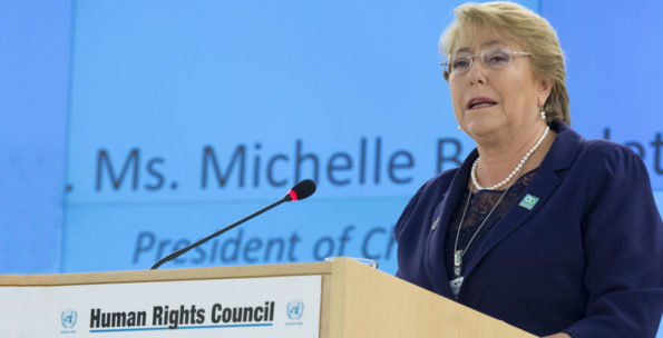 Human Rights Council, Geneva, February 2020, Michelle Bachelet, commemorating Beijing, speech, women's rights, threats to women's rights