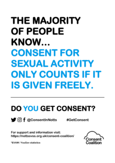 Nottingham, Consent Coalition, Do you get consent, resources, consent, survey, posters, support, sexual abuse, rape, Your Journey,