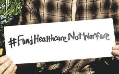 WILPF, open letter, #FundHealthcareNotWarfare,