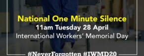 One-minute silence on Workers' Memorial Day