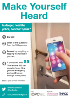 emergency, can't talk, call 999, silent solution, press 55,